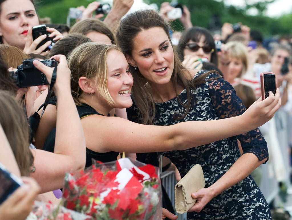 Kate Middleton took pictures with fans in Canada.