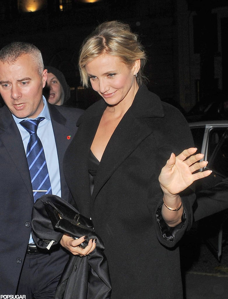Cameron Diaz was out in London to attend a party to celebrate the opening of her new movie Gambit.