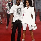 Virgil Abloh and Naomi Campbell at the Spring 2018 Off-White show.
