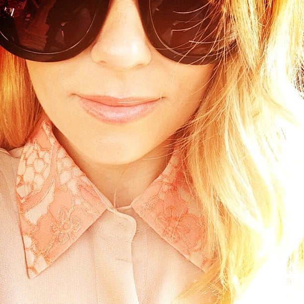 Lauren Conrad showed off her Spring makeup palette (and sunglasses!) this week. Source: Instagram user laurenconrad