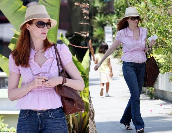 Marcia Looks Pretty In Pink