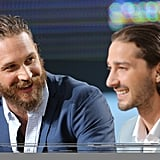 Tom Hardy and Shia LaBeouf had a laugh together in Cannes.