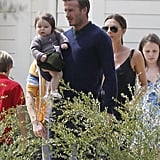 David Beckham and Victoria Beckham spent Easter with Gordon Ramsay and family.