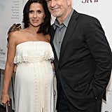 Alec Baldwin and Hilaria Thomas attended the NYC premiere of Blue Jasmine on Monday.