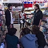 A behind-the-scenes look at how the grocery store scene came together.