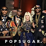 Pictured: Donatella Versace and Migos