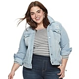 EVRI Plus Size Jean Jacket