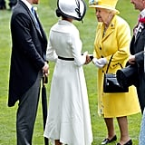 Prince Harry and Meghan Markle attended the 2018 Royal Ascot with the queen.