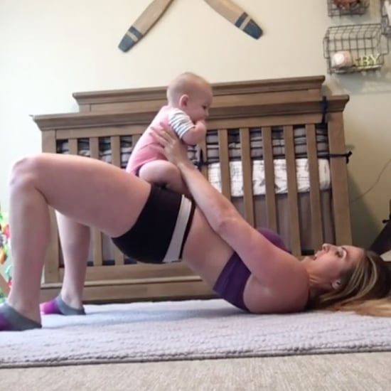 Mum Working Out With Baby Son