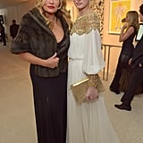 Jennifer Coolidge and Laetitia Casta hung out inside Elton John's Oscar party in LA.