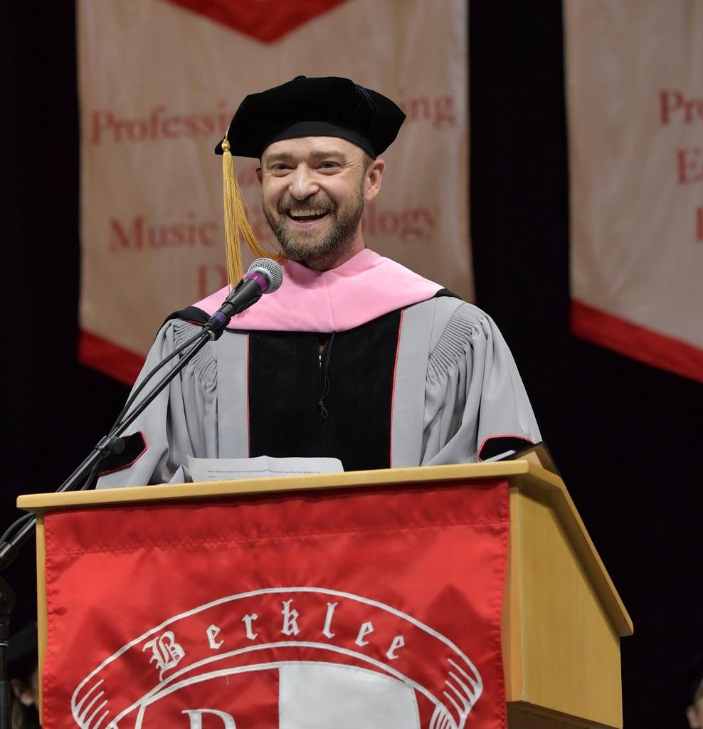 Justin Timberlake Receives Honourary Doctorate May 2019