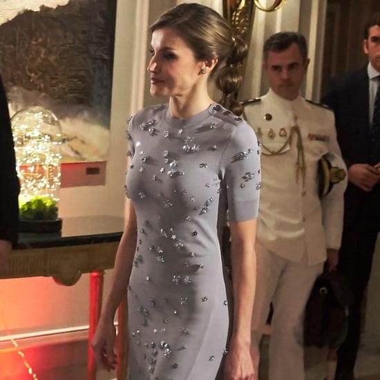 Queen Letizia's Bubble Ponytail May 2017