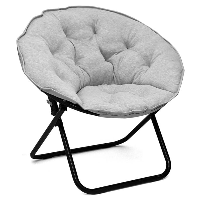 Folding Jersey Saucer Chair In Light Grey The Best Dorm