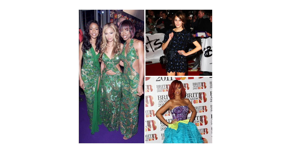 e1828305b0cf Red Carpet Moments from the Brit Awards from Years Gone By: Catch Our Fashion  Flashback! | POPSUGAR Fashion Australia