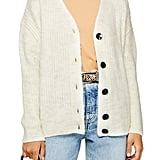 Topshop Button-Front Cardigan