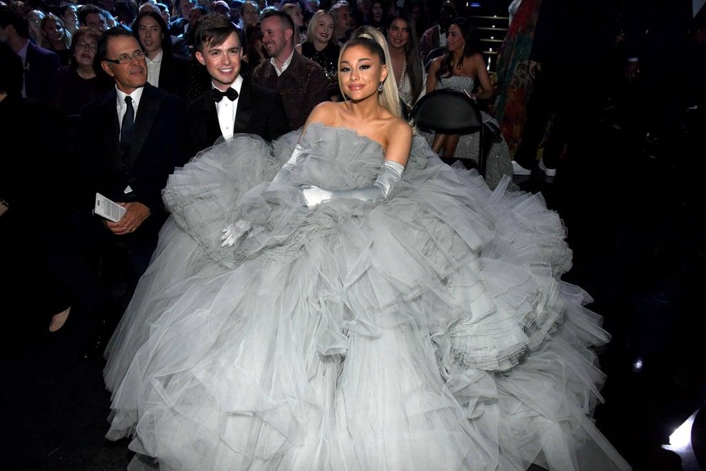 ariana grande s dress at the 2020 grammy awards popsugar fashion dress at the 2020 grammy awards