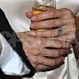 Angelina Jolie's engagement ring up close.  Corbis