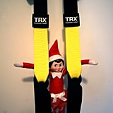 A little TRX for this little elf.