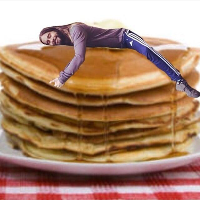 Jared Hugging Pancakes