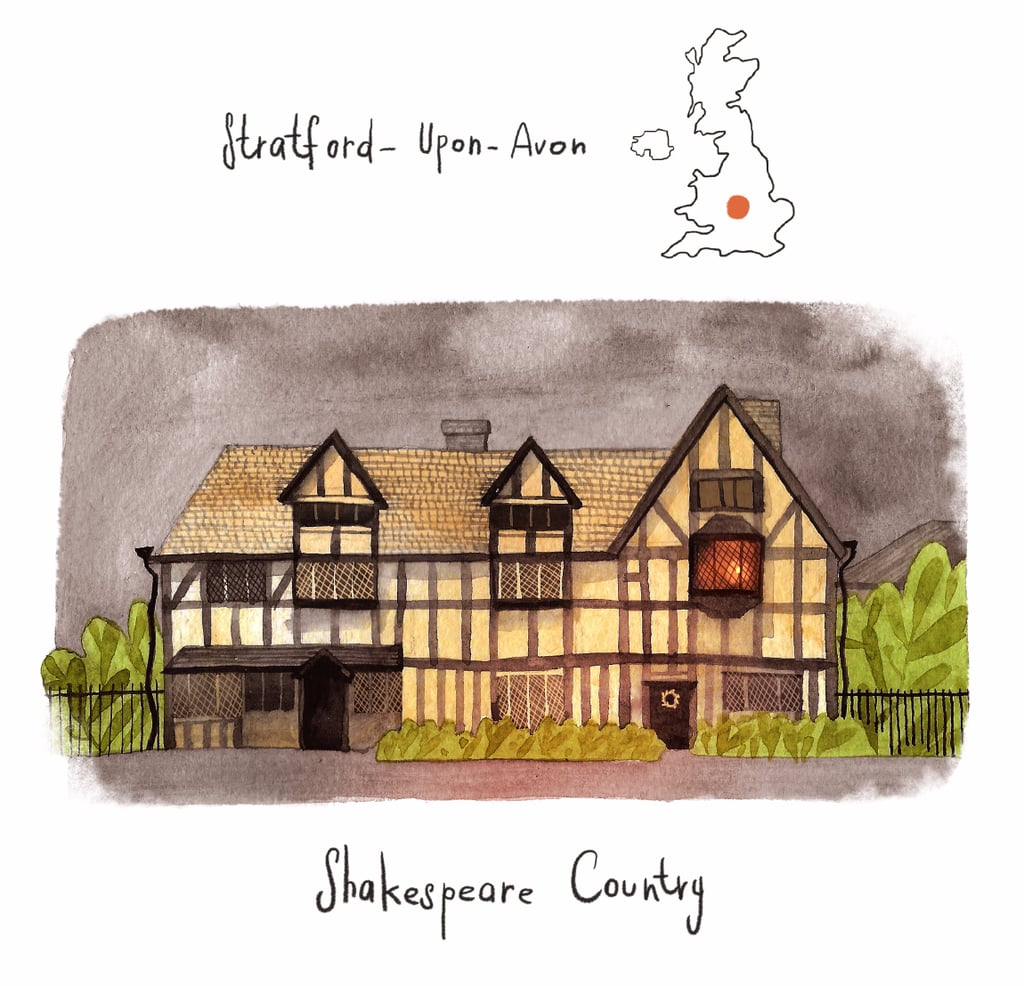 Literary Tour of the UK Illustrations