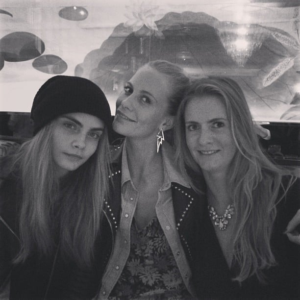 The Delevingne sisters — Cara, Poppy, and Chloe — enjoyed a night out together. Source: Instagram user poppydelevingne