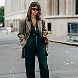 Update your look when you swap trousers for a jumpsuit, and top it all off with a cool blazer and fresh pumps.