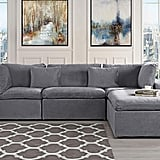 Classic Large Velvet Sectional Sofa