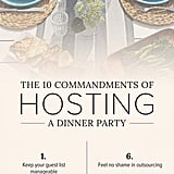 Top tips for hosting a dinner party.