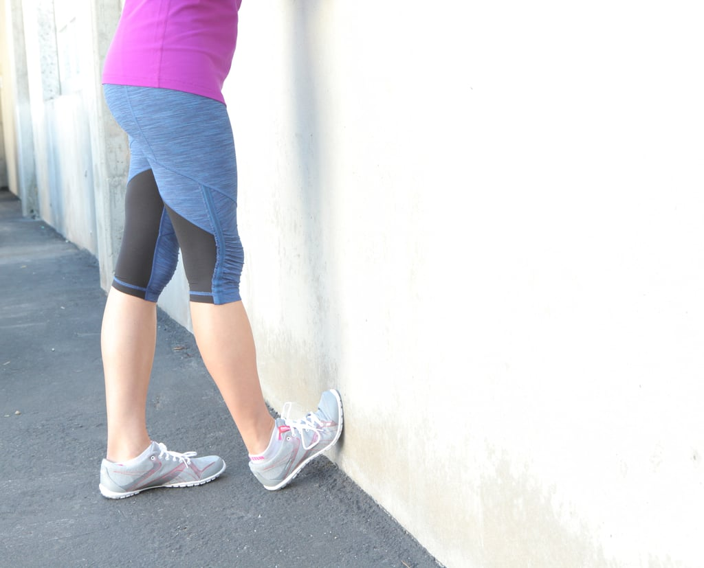 Wall Or Curb Stretch Best Calf Stretches Popsugar