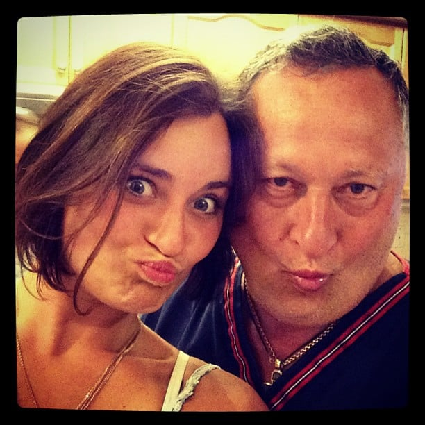 Master the Selfie For His Daughter's Amusement