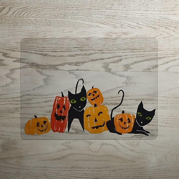 Halloween Cats and Pumpkins Easy-Care Placemat ($8)