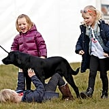 Mia Tindall With Isla and Savannah Phillips