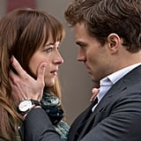 When Christian Grabs Ana's Face Slightly Too Intensely