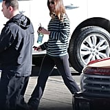 Megan Fox arrived at a car dealership with her husband.