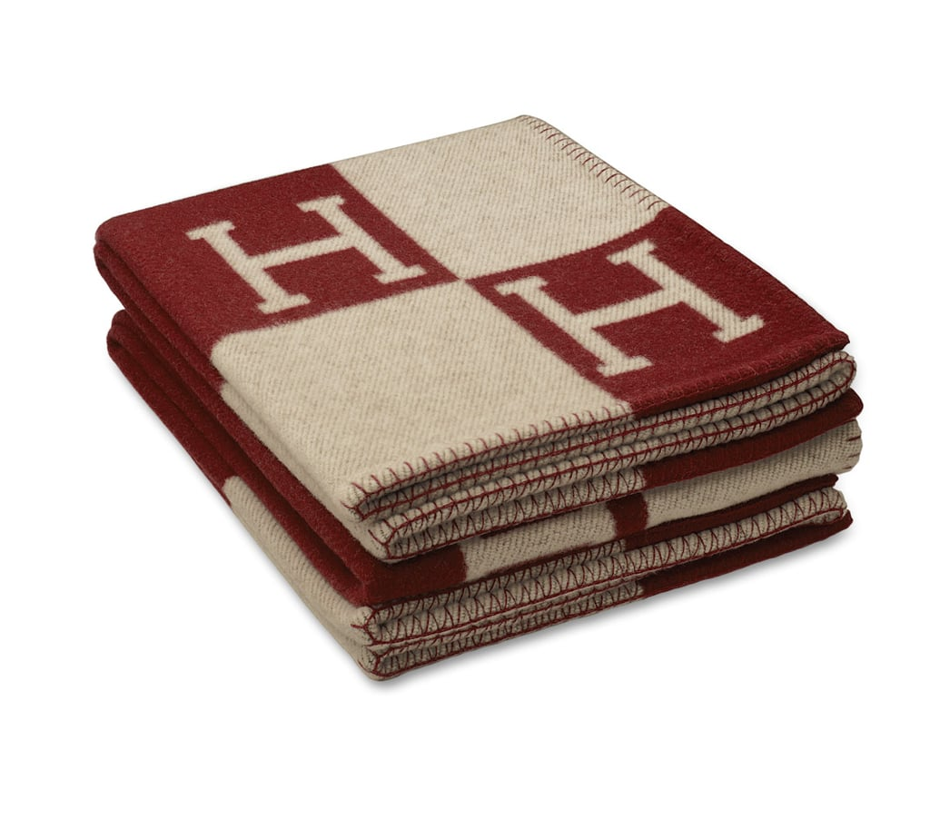 """Hermès Avalon Signature H Blanket ($1,300) """"This gift is a universally loved gift. Great for men and women. Chic and cozy . . . what more could you want?"""""""