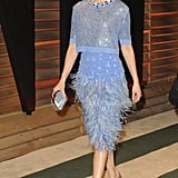 Elizabeth Banks wore blue.