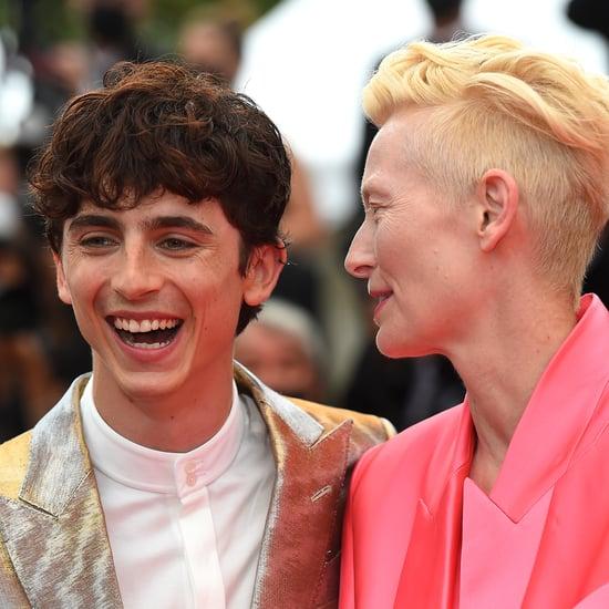 Tilda Swinton Pranks Timothée Chalamet at Cannes | Video