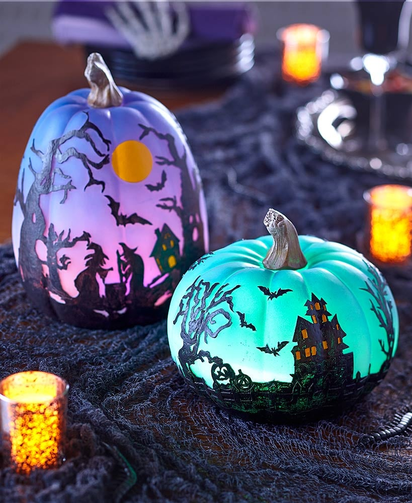 Lakeside Collection Color-Changing Halloween Pumpkins
