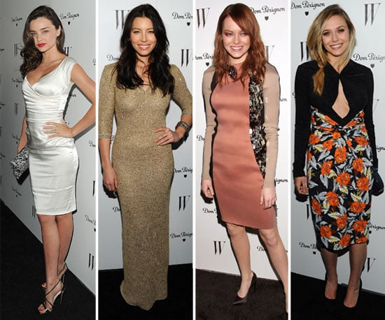 Jessica Biel With No Ring at W Magazine Party Pictures