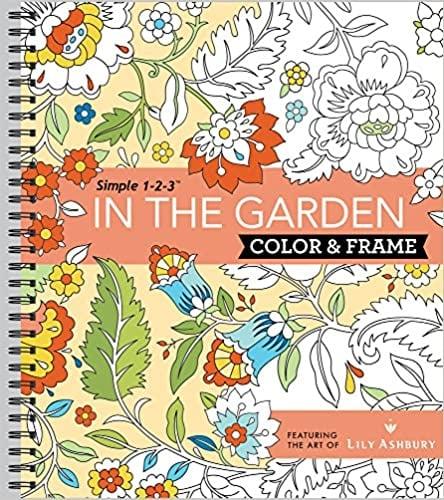 Colour & Frame Colouring Book - In the Garden