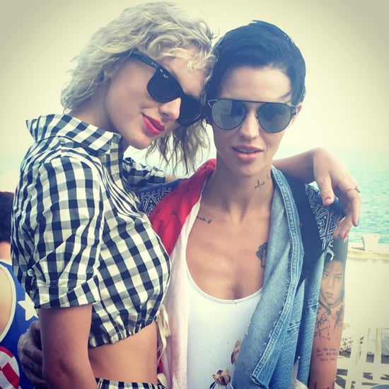 Taylor Swift's Solid and Striped Cover-Up