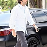 Ben Affleck debuted a shaggier look while out running errands.