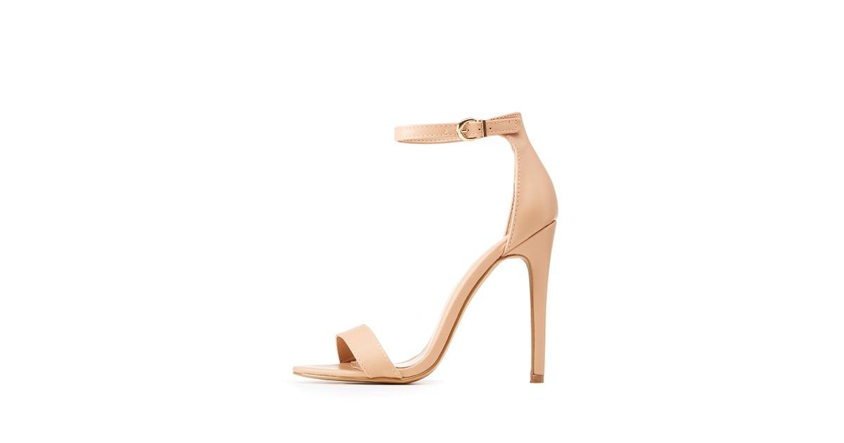 996b5a70783 Charlotte Russe Ankle Strap Dress Sandals | Lauren Conrad Nude ...