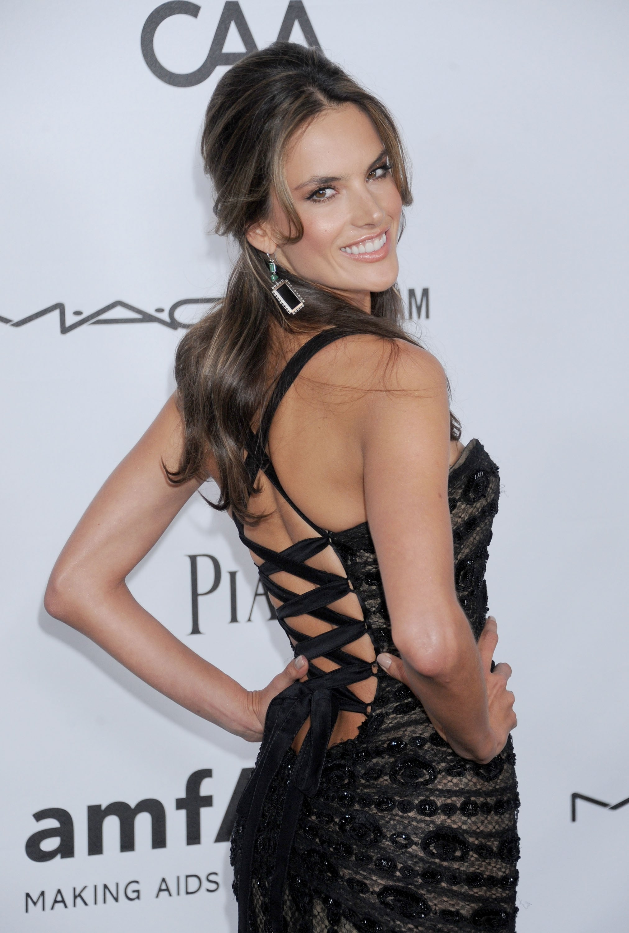 Alessandra Ambrosio stepped out at Milk Studios in LA for the amfAR 3rd Annual Inspiration Gala.