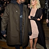 Kim went straight-up sheer at Lanvin's PFW show, but Kanye just did his thing.