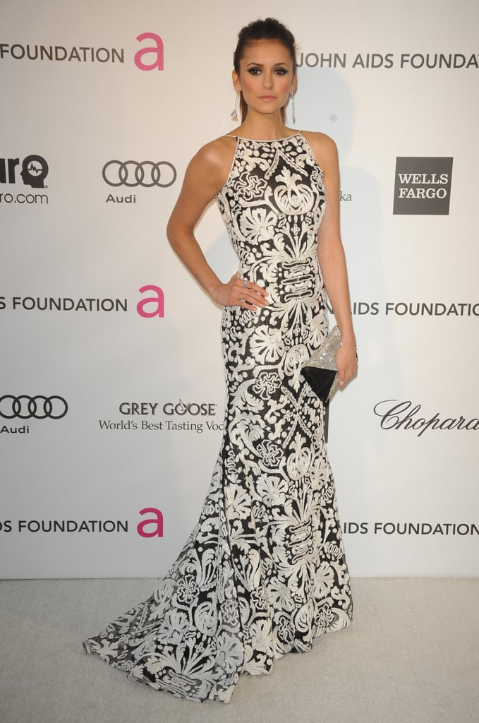 Nina Dobrev at Elton John's Oscar party.