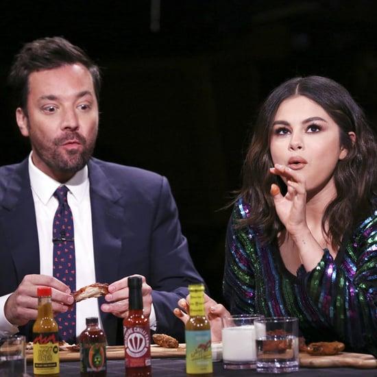 Selena Gomez Eats Hot Wings on The Tonight Show Video