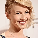 Even ladies with short hair can pull off the faux undercut look, just let Julianne Hough be your guide.