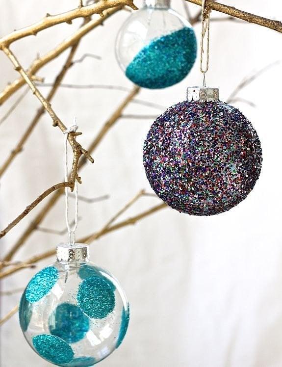 Glass Ball Ornament DIYs
