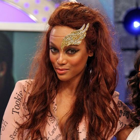 Tyra Banks Victoria S Secret 2018: Tyra Banks Wears Angel Wing Headpiece